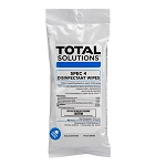 Total Solutions Spec 4 Disinfectant Wipes, Flat Pack, Lemon Scent, 7